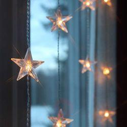 Zasłona świetlna LED Star 5 nitek, 30-pkt.
