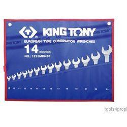 Zestaw kluczy płasko-oczkowych 14cz. 8 - 24mm 1215mrn01 marki King tony