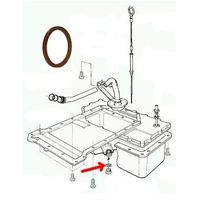 Uszczelka korka spustu oleju silnika Jeep Wrangler JA 2,8 CRD 4720353