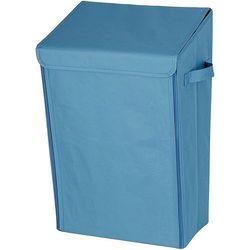 Naścienny kosz na pranie, pojemnik na bieliznę, turbo-loc - 30 litrów, kolor błękitny, marki Wenko