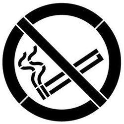 Szablon plastikowy do malowania znak zakaz palenia gp002 - 15x15 cm marki Szabloneria