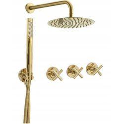 Rea Zestaw natryskowy podtynkowy, kolor złoty exit gold (5902557338627)