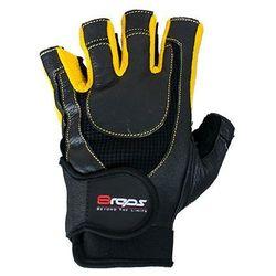 8reps Rękawice kulturystyczne  dd-104 bestrong męskie żółty (rozmiar l), kategoria: rękawice do walki