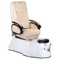 Fotel do pedicure z masażem BR-3820D Kremowy