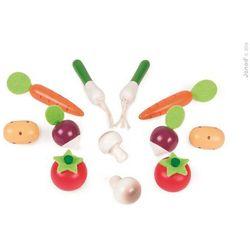 Janod  - warzywa drewniane 12 szt. w skrzyneczce, kategoria: skrzynki i walizki narzędziowe