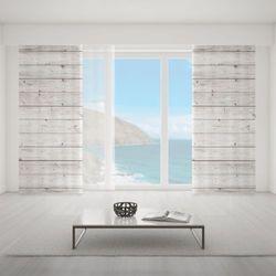 Zasłona okienna na wymiar - WHITE HORIZONTAL BOARDS
