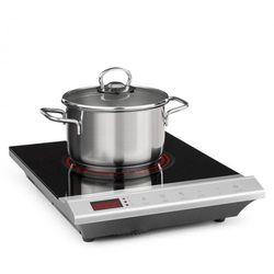 mistercook, płyta kuchenna podczerwień, 2000w, 90-650°c, wyłącznik czasowy, srebrna marki Klarstein