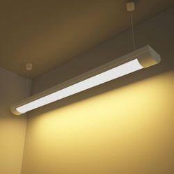 vidaXL Lampa sufitowa, świetlówka LED 28W ciepły biały+zestaw do zawieszania (świetlówka)