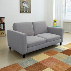kanapa sofa 2 osobowa jasnoszara od producenta Vidaxl