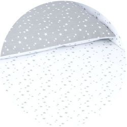 MAMO-TATO pościel dwustronna 2-el Mini gwiazdki szare na bieli / mini gwiazdki białe na szarym