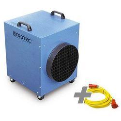 Nagrzewnica elektryczna tde 95 + przedłużacz profi 20 m / 400 v / 6 mm² marki Trotec