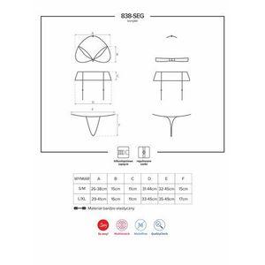838-seg-3 komplet 3-częściowy czerwony marki Obsessive