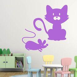 Wally - piękno dekoracji Naklejka welurowa dla dzieci kot i mysz 1915