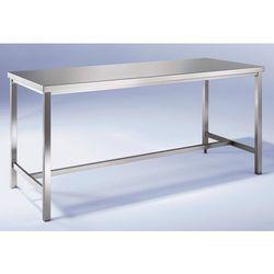 Unbekannt Stół warsztatowy ze stali szlachetnej, 1 podpora środkowa, szer. 1200 mm. ze sta