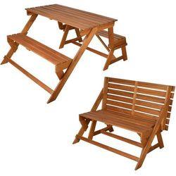 wygodna ławka/praktyczny stół piknikowy bl059 marki Esschert design