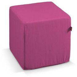 pufa kostka twarda, różowy, 40x40x40 cm, jupiter marki Dekoria