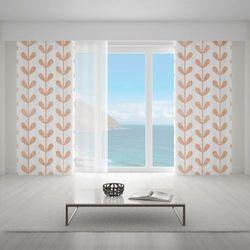 Zasłona okienna na wymiar - VINES LEAVES ORANGE II