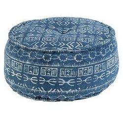 Orientalny okragly puf Ø60 cm niebieski - Varanasi