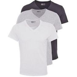 Pier One 3 PACK Tshirt basic white/black/grey - produkt z kategorii- Pozostała bielizna męska
