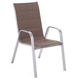 Krzesło ogrodowe metalowe Toscana Silver / Taupe