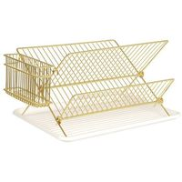 Pt, Suszarka do naczyń dish rack gold plated by