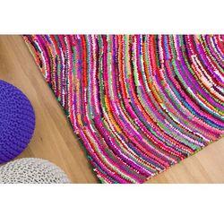 Dywan kolorowy 140x200 cm - bawełna - poliester - KESAN