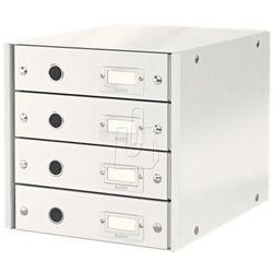 Pojemnik click&store z 4 szufladami biały 60490001 marki Leitz