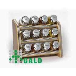 półka z przyprawami 12-el jasne drewno połysk 5901832921028 marki Gald