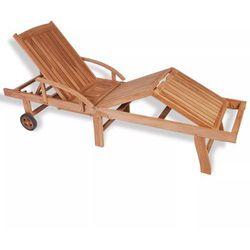 Vidaxl leżak z drewna tekowego, regulowany w 5 pozycjach