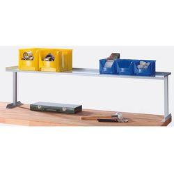 Półka, z metalu, szer. stołu warsztatowego 1000 mm. Z okrawędziowaniem z 3 stron