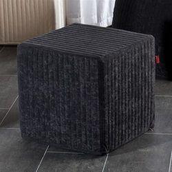 Dekoria  pufa kostka twarda black, 40x40x40cm