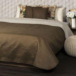 4Home Narzuta na łóżko Doubleface ciemnobrązowy/jasnobrązowy, 220 x 240 cm, 2x 40 x 40 cm, 222280