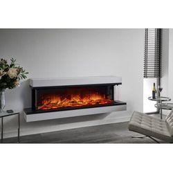 Kominek do montażu ściennego Flamerite Fires Exo 1500. Efekt płomienia LED Nitra Flame - 20 kolorów ognia - PROMCJA