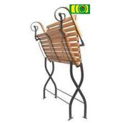Metalowo-drewnina ławka Tosca