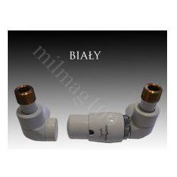 Zestaw zaworów grzejnikowych termostatycznych LUX prawy BIAŁY - produkt z kategorii- Zawory i głowice