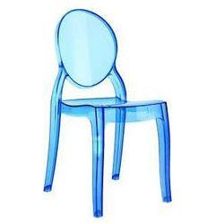 Krzesło dziecięce Mia - niebieski ||transparentny, kup u jednego z partnerów