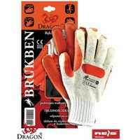 Rękawice robocze powlekane lateksem BRUKBEN - idealne dla brukarzy!