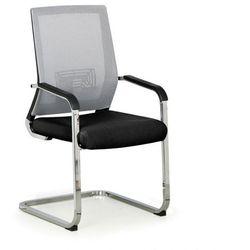 Krzesło konferencyjne elite net, szary/czarny marki B2b partner