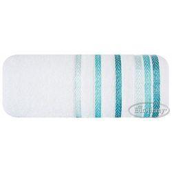 Ręcznik LIVIA 50x90 Eurofirany biały/turkus, 3666
