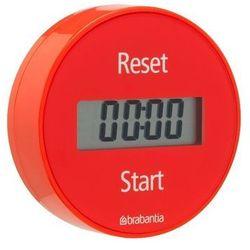 - elektroniczny timer kuchenny mocowany na magnes - czerwony - czerwony marki Brabantia