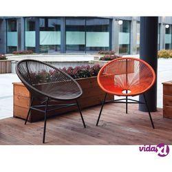 krzesło rattanowe pomarańczowe acapulco marki Beliani
