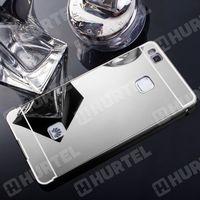 Aluminiowe etui lusterko Metal Mirror Bumper Huawei P9 Lite srebrne - Srebrny - produkt z kategorii- Futerały