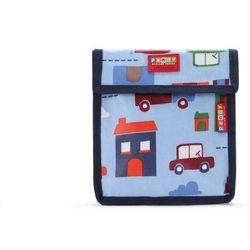 Penny Scallan Design, torebka na przekąski, wielokrotnego użytku, niebieska w autka
