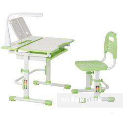 Fundesk Lavoro green - ergonomiczne, regulowane biurko dziecięce z krzesełkiem - złap rabat: kod30