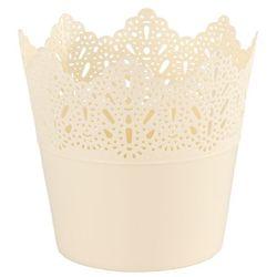 4home Osłonka plastikowa koronka 11,5 cm, śmietanowy