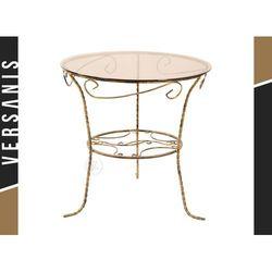 Kapelańczyk Szklany, zdobiony stolik kawowy -