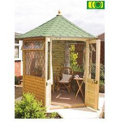 Altana Georgian, summerhouse średni / 2 okna, śr. 235 cm z gontem - produkt z kategorii- Dekoracje ogrodowe