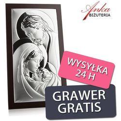 Obrazek srebrny Święta Rodzina 14 cm *26 cm ()