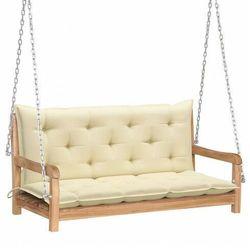 Drewniana huśtawka z kremową poduszką - paloma 2x marki Elior