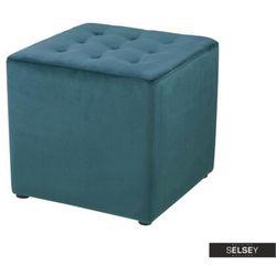 Selsey pufa bryan velvet butelkowa zieleń (5903025211220)